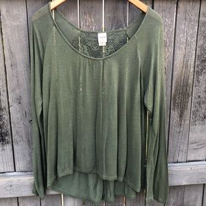 Mission Supply Green Long Sleeve Top XL